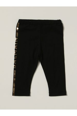 Balmain Trousers - Cotton trousers with laminated logo