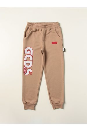 GCDS Cotton jogging trousers with maxi logo