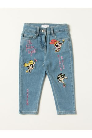 MONNALISA Girls Jeans - Powerpuffgirl jeans with embroidery