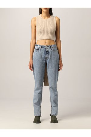 Ganni Women Tops - Top in recycled ribbed wool