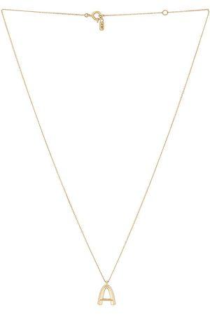 Jenny Monogram Necklace in . Size C, D, E, F, H, I, J, K, L, M, N, R, S, T.