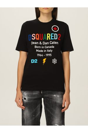 Dsquared2 Women Short Sleeve - Cotton Tshirt with print