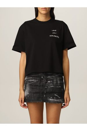 Dsquared2 Cropped cotton Tshirt with logo