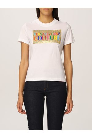 VERSACE Cotton tshirt with logo