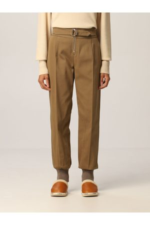Chloé Women Trousers - Trousers with metal ring