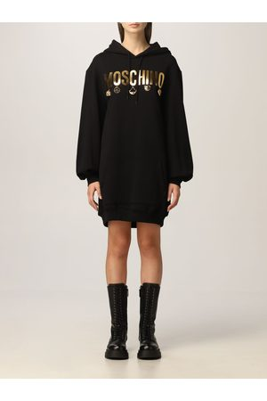Moschino Women Casual Dresses - Cotton jumper dress with charmes