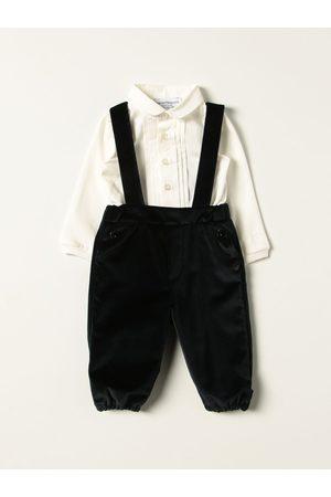 Emporio Armani Baby Bodysuits & All-In-Ones - Velvet dungaree set + shirt