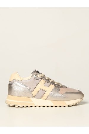 Hogan H383 trainers in laminated leather