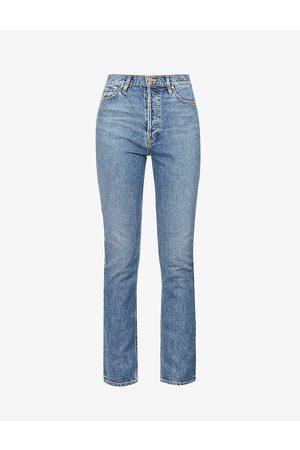 Goldsign Women Straight - The Lawler high-rise straight cotton-blend denim jeans