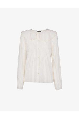 Whistles Women Tops - Darcie oversized-collar cotton top
