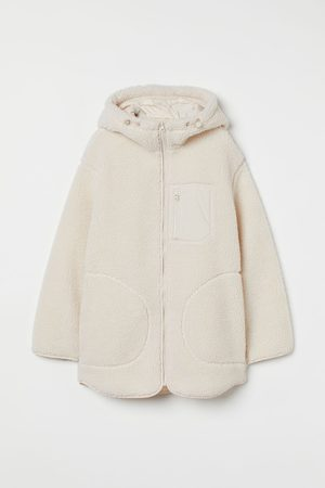 H&M Hooded faux shearling jacket