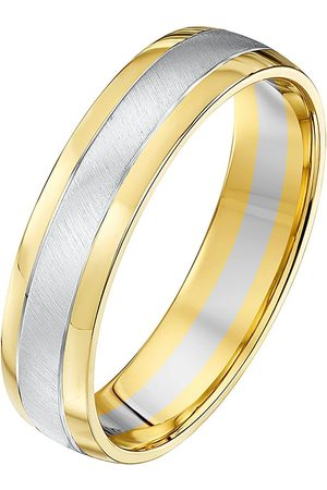 Love GOLD 9Ct White & Yellow Gold Wedding Band Ring