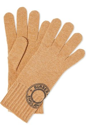 Burberry Men Gloves - Graphic Logo Cashmere Glove
