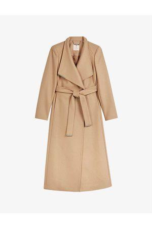 Ted Baker Women Coats - Rosell wrap-over wool-blend coat