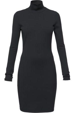 Balenciaga Plunge-back High-neck Jersey Dress - Womens