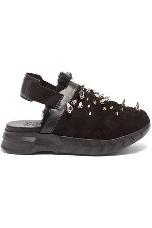 Givenchy Marshmallow Studded Suede Slingback Loafers - Womens