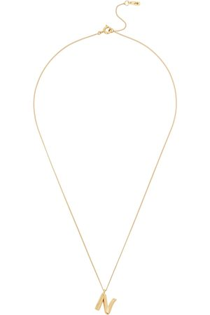 Jenny Women Necklaces - N Initial 14kt -dipped Necklace