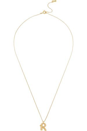 Jenny Women Necklaces - R Initial 14kt -dipped Necklace
