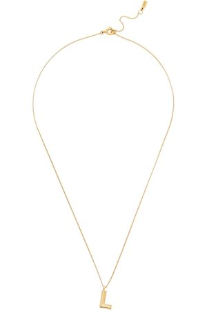 Jenny Women Necklaces - L Initial 14kt -dipped Necklace