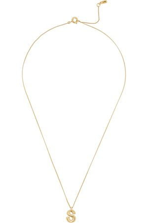 Jenny Women Necklaces - S Initial 14kt -dipped Necklace