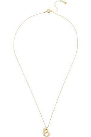 Jenny Women Necklaces - B Initial 14kt -dipped Necklace