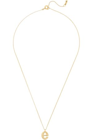 Jenny Women Necklaces - E Initial 14kt -dipped Necklace