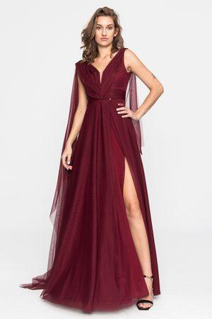 Angelika Jozefczyk Terracotta Marsala Tulle Evening Gown