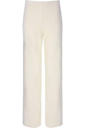 Juicy Couture Penelope Rib Velour Wide Leg Bottoms - Sugar Swizzle