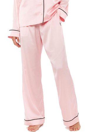 Juicy Couture Women Pyjamas - Paula Satin Embroidered Pyjama Bottoms - Almond Blossom