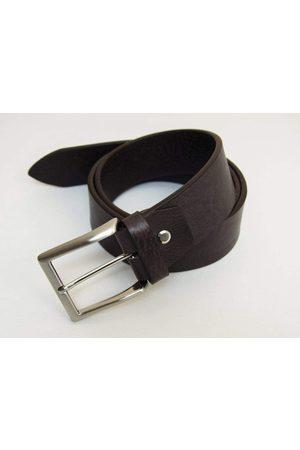 40 Colori Solid Distressed Leather Belt in Dark