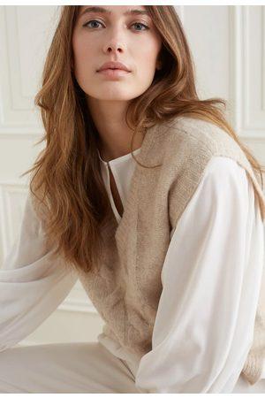 YAYA Women Singlets - Drapey top with volume sleeve in lyocell blend