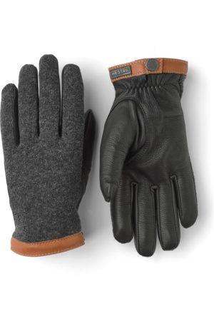 Hestra Deerskin Wool Tricot Gloves - Charcoal/