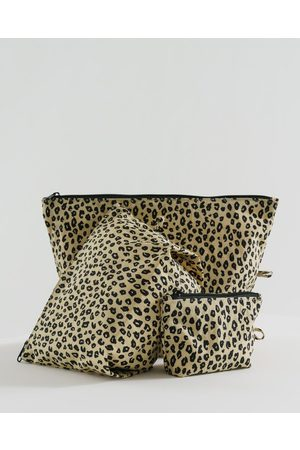Baggu The Go Pouch Set in Honey Leopard