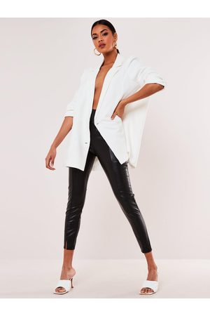 Missguided Faux Leather Pintuck Legging