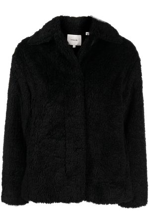 Vince Single-breasted faux shearling jacket
