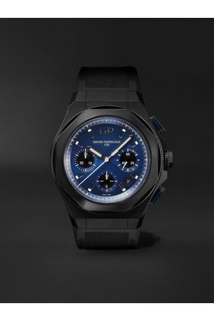 Girard Perregaux Men Watches - Laureato Absolute Automatic Chronograph 44mm Titanium and Rubber Watch, Ref. No. 81060-21-491-FH6A
