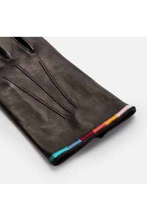 Paul Smith Men Gloves - Men's Embroidered Leather Gloves