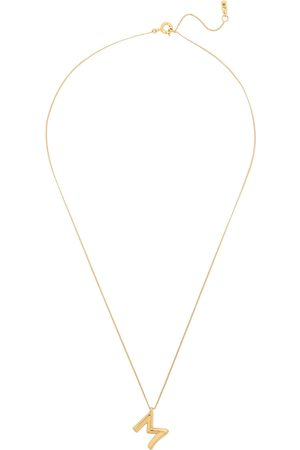 Jenny Women Necklaces - M Initial 14kt -dipped Necklace