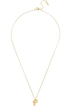 Jenny Women Necklaces - P Initial 14kt -dipped Necklace
