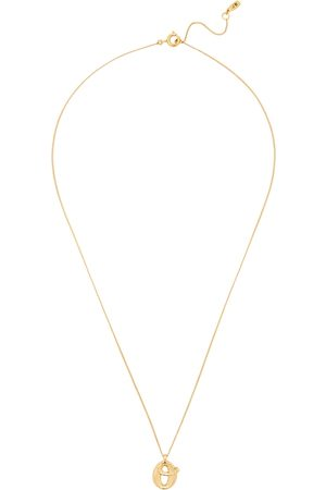 Jenny Women Necklaces - O Initial 14kt -dipped Necklace