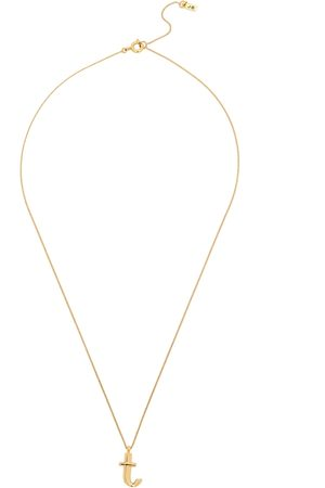 Jenny Women Necklaces - T Initial 14kt -dipped Necklace