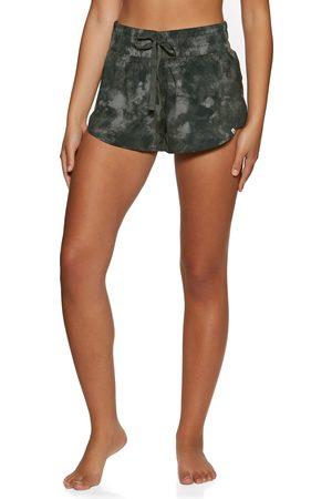 Hurley Women Sports Shorts - Side Inset s Running Shorts - Vintage Deamy Tiedye