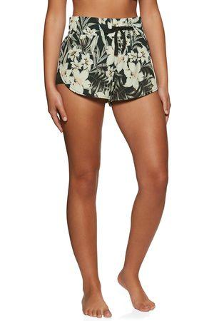 Hurley Women Sports Shorts - Side Inset s Running Shorts - Hawaiian