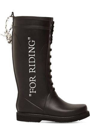 OFF-WHITE 20mm Leather & Rubber Rain Boots