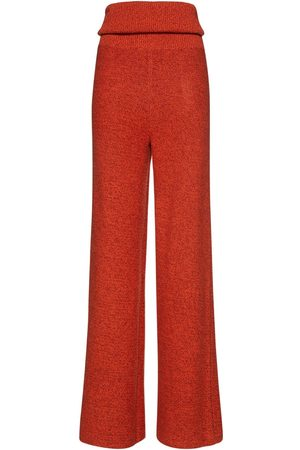 OFF-WHITE Knitted Viscose Blend Flared Pants