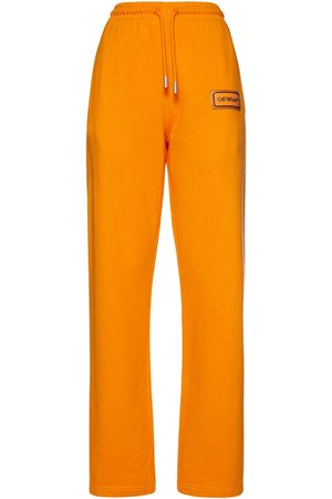 OFF-WHITE Logo Patch Tapered Jersey Sweatpants