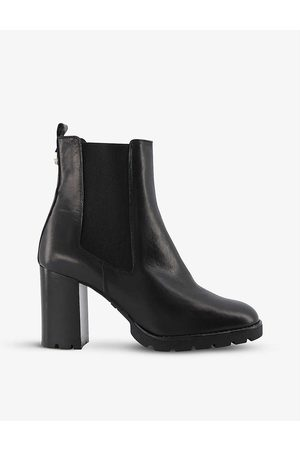 Dune Women Heeled Boots - Patrine leather heeled Chelsea boots