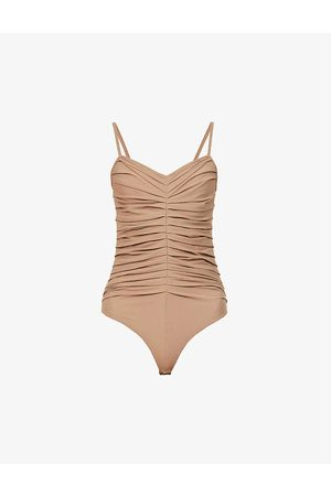 Goldsign Women Bodies - Hutton ruched stretch-woven bodysuit