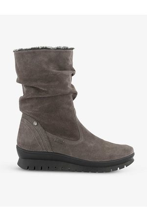 Dune Women Boots - Rafikii faux fur-lined water-resistant suede boots