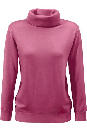 Peter Hahn Women Jumpers - Roll-neck jumper in 100% new milled wool pale size: 10